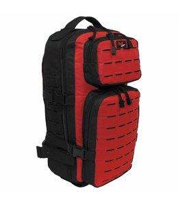 "Rugzak ""Assault-Travel"", Laser, Zwart/red"