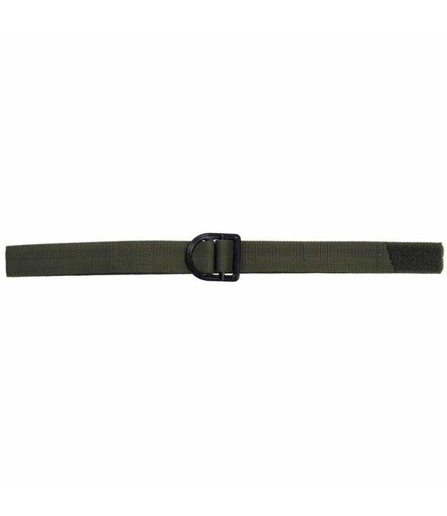 "Riem ""Tactical"", OD Groen, metalen buckle, 4 cm wide"