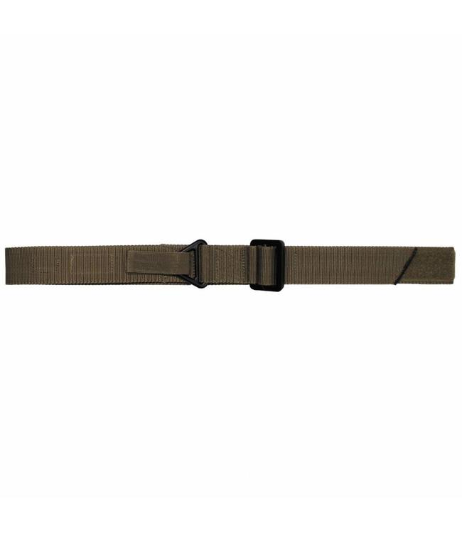 "Riem ""Mission"", coyote tan, metalen buckle, 4,5 cm wide"