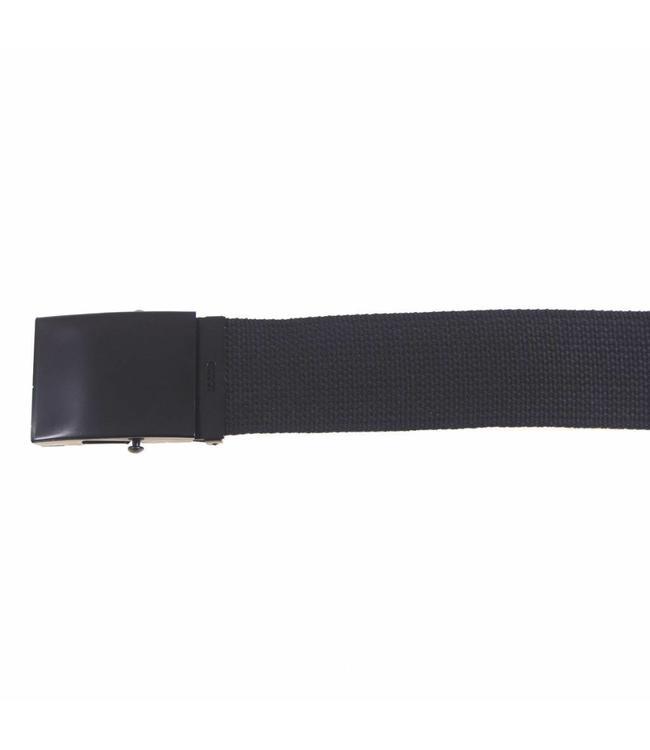 Web Riem, 45 mm, Zwart, Zwart metalen buckle