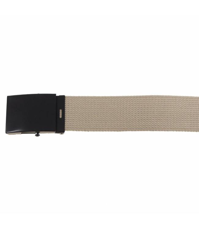 Web Riem, 45 mm, khaki, Zwart metalen buckle