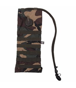 "Hydration Pack, ""Molle"",met  drinking cup 2,5 l, woodland camouflage"