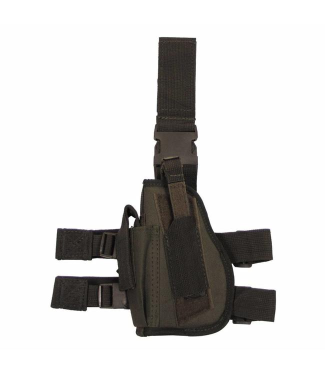 Tactical Holster, OD Groen, leg- and belt fixing, left