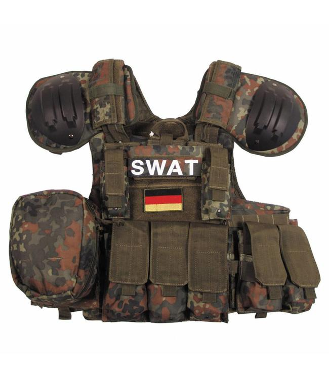 """Tactical vest """"Combat"""", Mod., BW camouflage, bags and pouches, quick remove"""