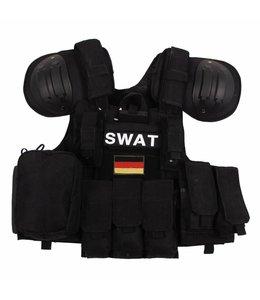 "Tactical vest ""Combat"" Modular, Zwart, bags and pouches, quick remove"