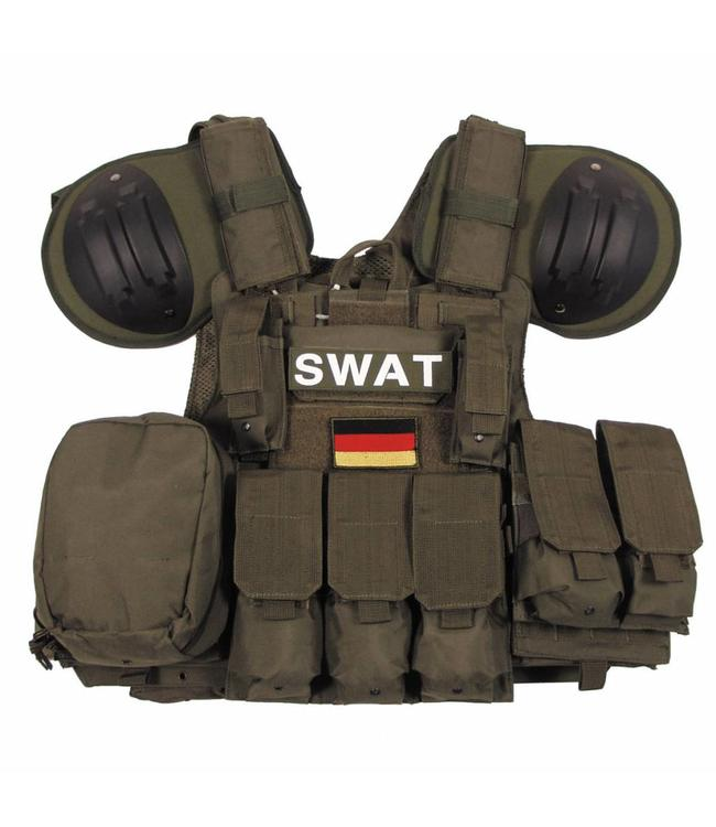 """Tactical vest """"Combat"""" Mod., OD Groen, bags and pouches, quick remove"""