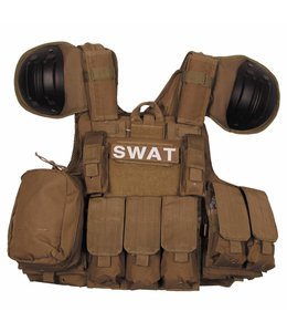 "Tactical vest ""Combat"" Modular, coyote, bags and pouches, quick remove"