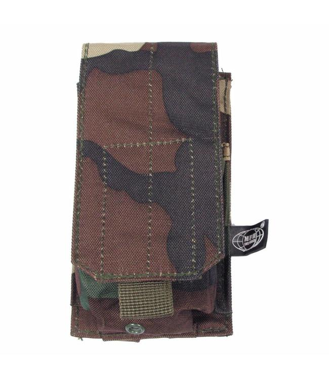 "Ammu Pouch, single, ""Molle"", woodland camouflage"