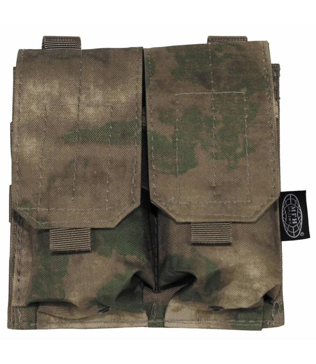 "Ammo Pouch, double, ""Molle"", HDT camouflage Groen"