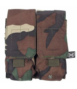 """Ammo Pouch, double, """"Molle"""", woodland camouflage"""