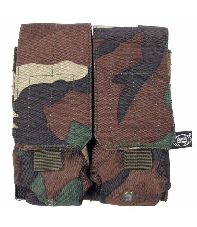 "Ammo Pouch, double, ""Molle"", woodland camouflage"