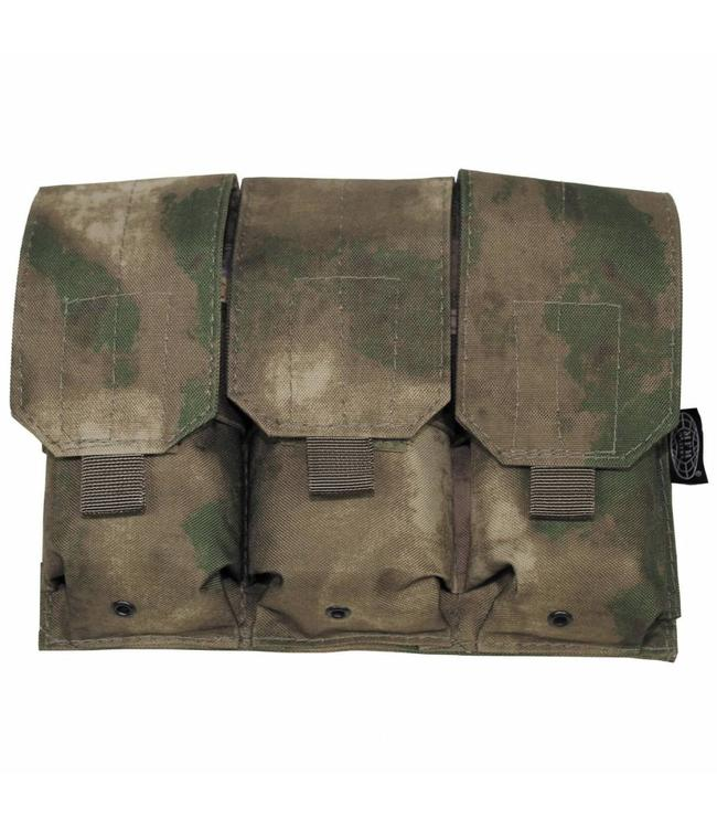 "Ammo Pouch, triple, ""Molle"", HDT camouflage Groen"