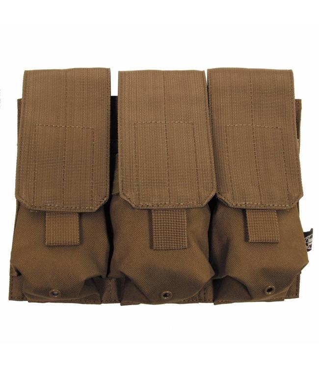 """Ammo Pouch, triple, """"Molle"""", coyote tan"""