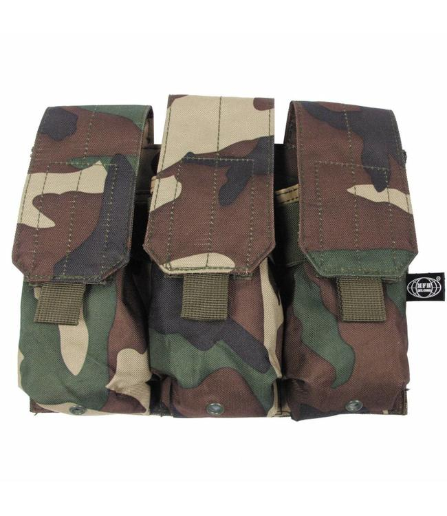 "Ammo Pouch, triple, ""Molle"", woodland camouflage"
