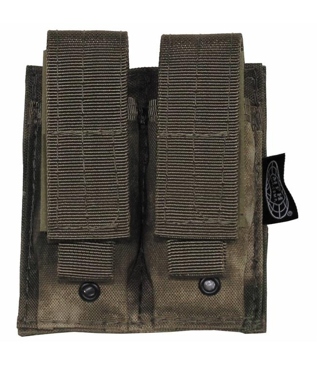 "Ammo Pouch, double, ""Molle"", small, HDT camouflage Groen"