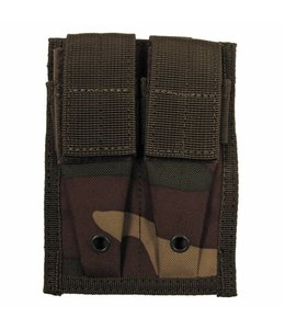 """Ammo Pouch, double, """"Molle"""", small, woodland camouflage"""