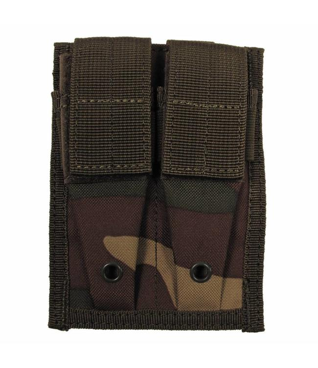 "Ammo Pouch, double, ""Molle"", small, woodland camouflage"