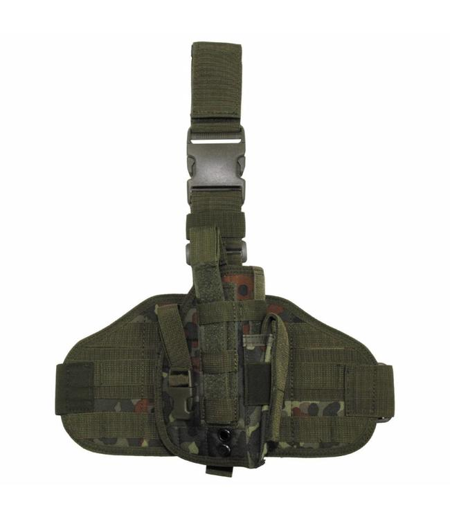 "Tactical Holster, ""Molle"", leg- and belt fixing, BW camouflage"