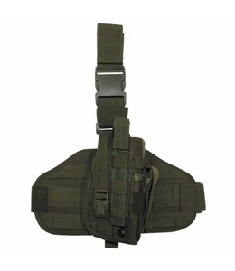 "Tactical Holster, ""Molle"", leg- and belt fixing, OD Groen"