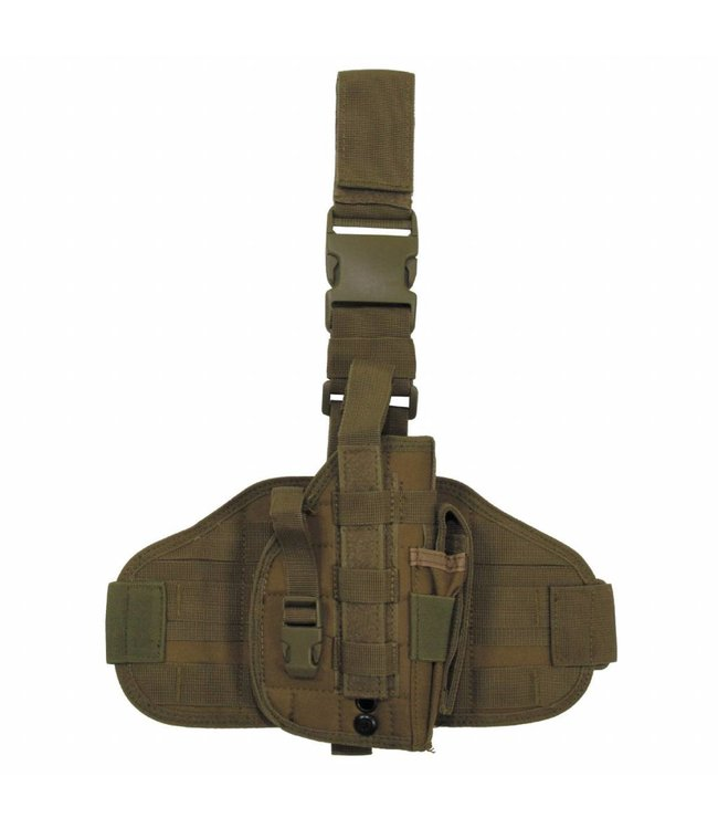 "Tactical Holster, ""Molle"", leg- and belt fixing, coyote"