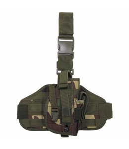"""Tactical Holster, """"Molle"""", leg- and belt fixing, woodland camouflage"""