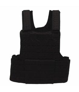 """Tactical vest """"Molle II"""", met voering, modular, Zwart"""