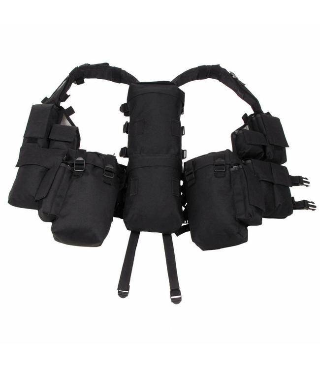 Tactical Vest, Zwart, met verschillende vakken