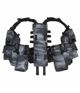 Tactical Vest, HDT camouflage grijs, met verschillende vakken
