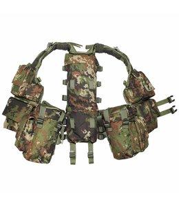 Tactical Vest, vegetato, met verschillende vakken