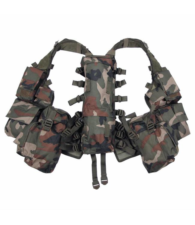 Tactical Vest, woodland camouflage, met verschillende vakken