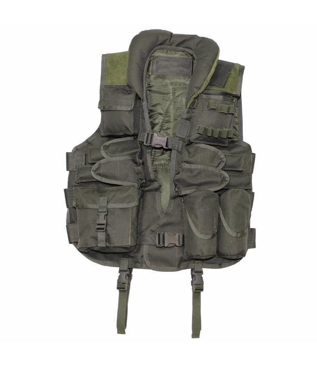 Tactical Vest, with leder, OD Groen