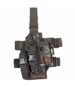 Tactical Holster, BW camouflage, leg- and belt fixing