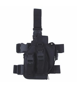 Tactical Holster, Zwart, leg- and belt fixing