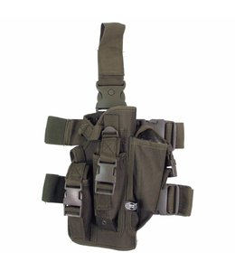 Tactical Holster, OD Groen, leg- and belt fixing