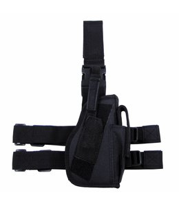 Tactical Holster, Zwart, leg- and belt fixing, right