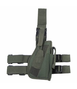 Tactical Holster, OD Groen, leg- and belt fixing, right