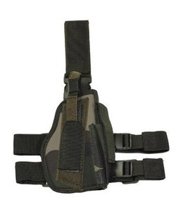 Tactical Holster, CCE-camouflage, leg- and belt fixing, right