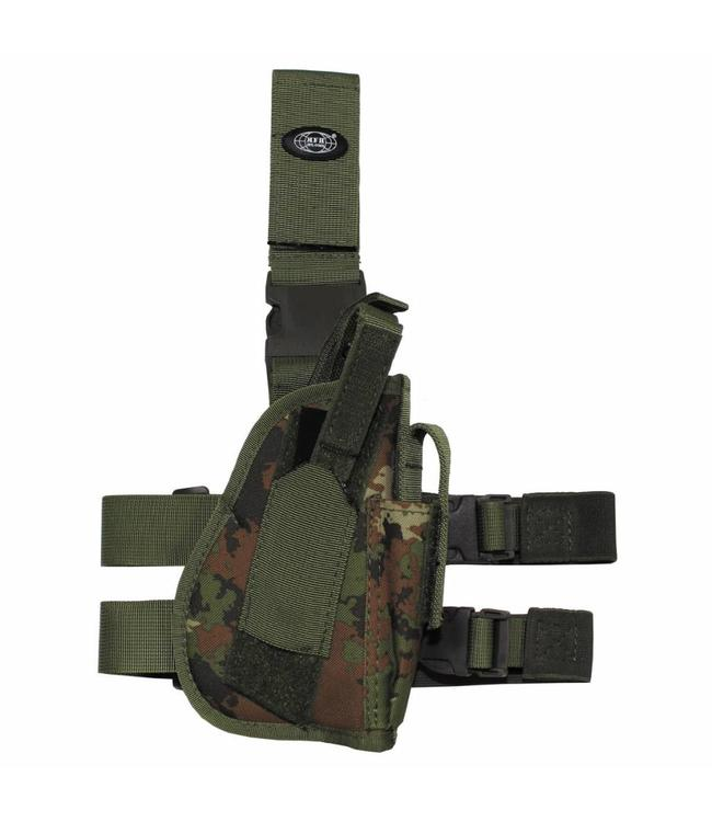 Tactical Holster, vegetato, leg- and belt fixing, right