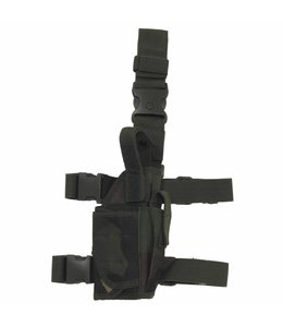 Tactical Holster, woodland camouflage, adjustable