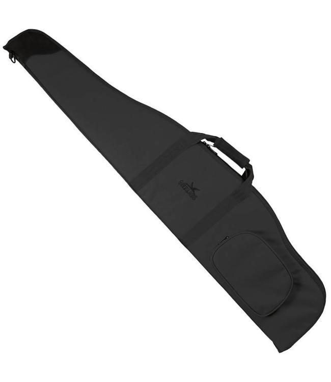 Geweertas foudraal 130cm met munitiezak Zwart