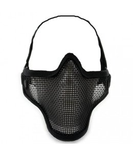 Airsoft metal mesh masker Zwart