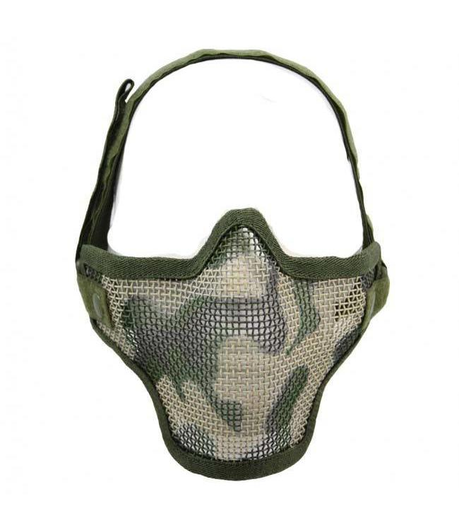Airsoft metal mesh masker Woodland camo