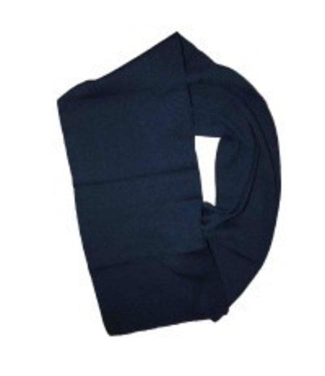 Sjaal 150x30cm 100% acryl Blauw