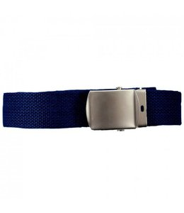 Tropenkoppel schuifriem met chrome buckle, 30mm blauw