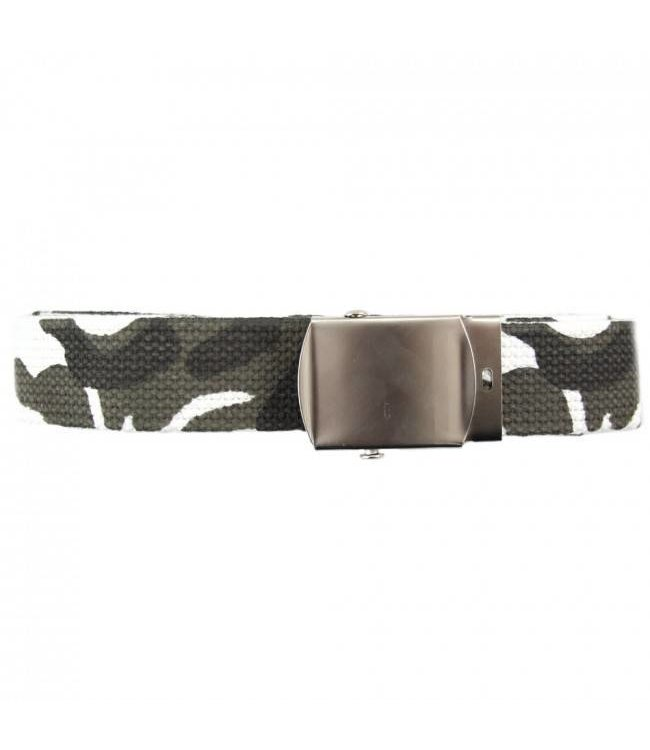 Tropenkoppel schuifriem met chrome buckle, 30mm Urban camo