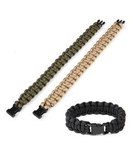 Paracord armband K2015 9 inch Zwart