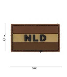 Embleem (patch) PVC NLD desert
