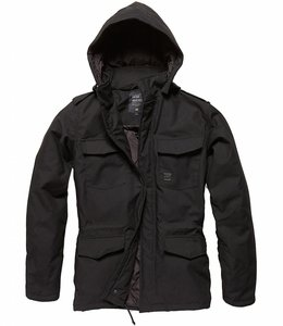 Vintage Industries Darren parka winterjas black