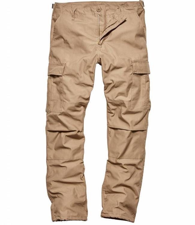 Vintage Industries BDU pants beige cargo broek