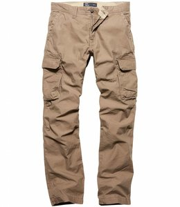 Vintage Industries Reef pants dark khaki cargo broek